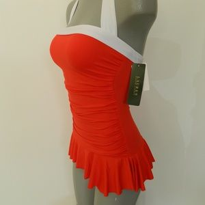 NWT Lauren Ralph Lauren 1 pc Swimsuit sz 6 $119